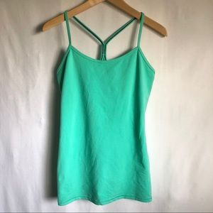 Lululemon Mint Green camisole with built in bra